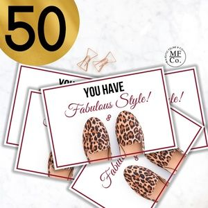 "Posh Thank You Cards 4""x5.5"" Set of 50"